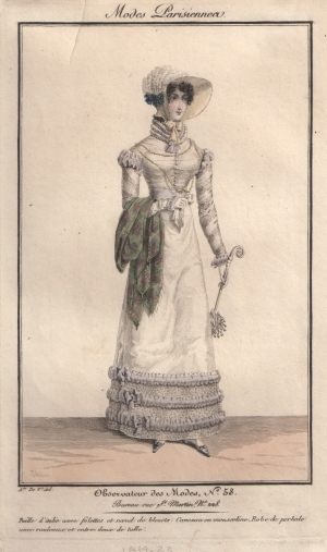 A Regency Fashion Print from Observateur des Modes, c 1819-1823