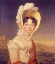 Catherine Pavlovna, the Grand Duchess of Oldenburg, in her fetching bonnet.