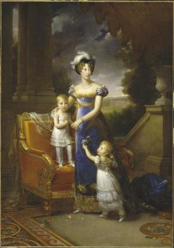 La Duchesse de Berry and her children Francois Gerard 1822