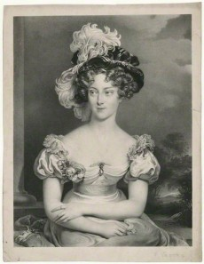 The Duchesse de Berry by Pierre Louis ('Henri') Grevedon, after  Sir Thomas Lawrence, lithograph, circa 1829 (1825)