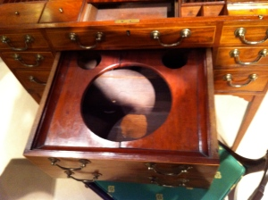 Basin Drawer of George III Mahogany Dressing Table