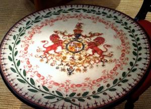 Antique Tilt Top Table With the Duke of Wellington's Crest