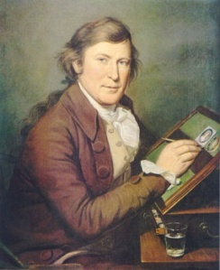 James Peale Painting a Miniature by Charles Wilson Peale, ca. 1785