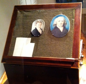Miniature Portrait Painter's Box Lid