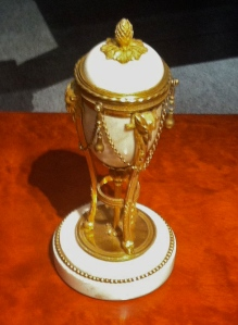 Regency gilt bronze and marble cassolettes c. 1815