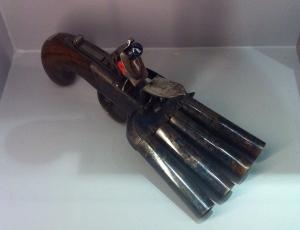 English Four-Barrelled Flintlock c 1810