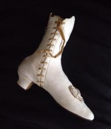 White leather boot c. 1845