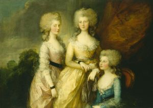 The Three Eldest Princesses: Charlotte, Augusta, and Elizabeth by Thomas Gainsborough