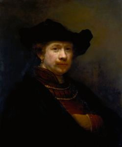 Self-Portrait in a Flat Cap by Rembrandt van Rijn
