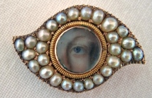 Lover's Eye Brooch from my collection, ca.1800