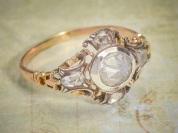 5 rose cut diamonds set in gold ca. 1770