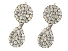18th Century Day Night Paste Earrings