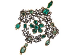 Georgian Emerald and Diamond Girandole Pendant, ca.1780