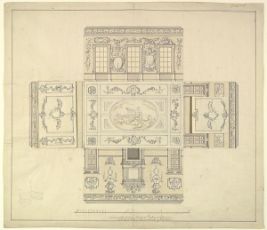 John Sanderson's drawing for the Dining Room at Kirtlington Park ca. 1747-1748