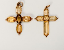 Topaz Crosses That Belonged to Jane and Cassandra Austen