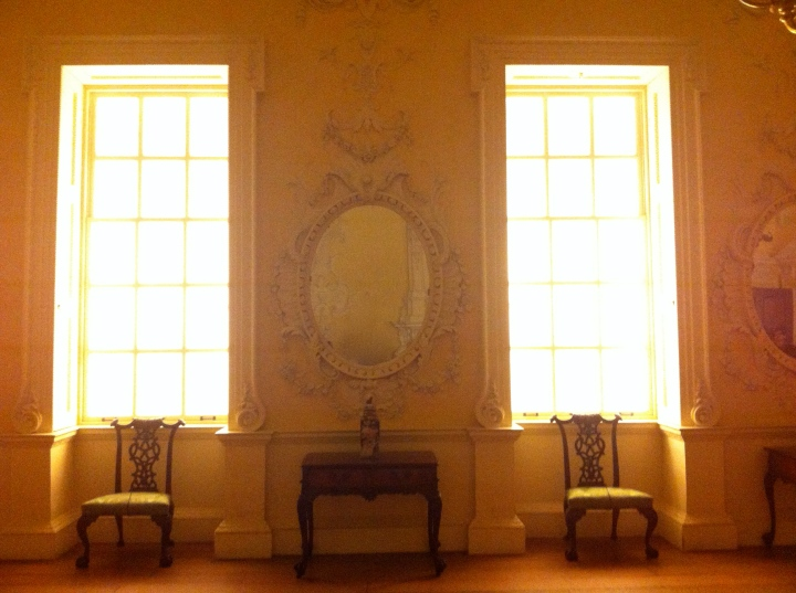 A Peek at the 18th Century Dining Room from KirtlingtonPark