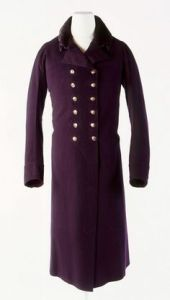 Wool Broadcloth Greatcoat with Silk Velvet Trim by John Weston, 1803-1810