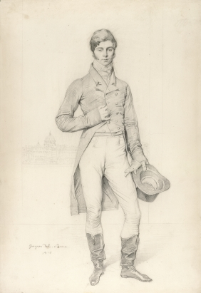 Portrait of the 3rd Earl of Grantham by Jean-Auguste-Dominique Ingres, 1816 from the Getty Museum